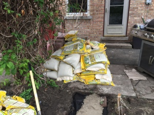 Triple check your math (even you math geniuses)--this is what too many sand bags look like.