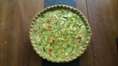 Zucchini Quiche with Basil Pesto